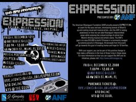 EXPRESSION SHOW FLYER by DepartmentM