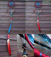 Dreamcatcher red-blue by SuvetarsWell