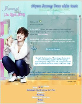 :K: Kim Hyun Joong Free Journal Skin by Anysayuri
