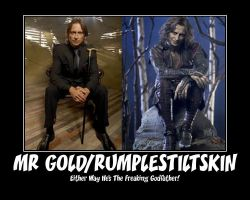 Mr Gold and Rumpelstiltskin by LadyBladeWarAgnel