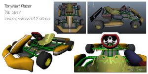 TonyKart Racer Lowpoly Model by MightyDargor