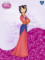 DisneyPrincess -Mulan ByGF by GFantasy92