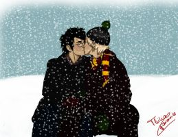 hp - kiss in the snow by thiliart