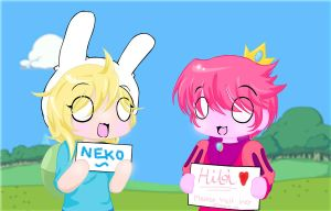 Fionna and Prince Gumball's request (Neko-Hibi) by Neko-Hibi