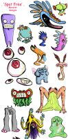 Monster designs by yunni