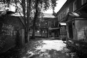 Old courtyard by Lazarusmeister