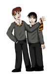 James and Albus Potter by Freyarule
