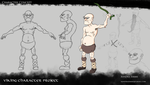Viking Character Project - Concept Sheet by xandra-ellen