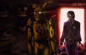 FNAF 3 - Possessed by the Purple Guy by LadyFiszi