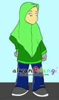 Simple Muslimah Character by putrazmi91