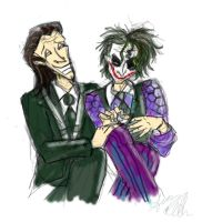 Joker and Loki do each other...'s nails. by Mad--Munchkin