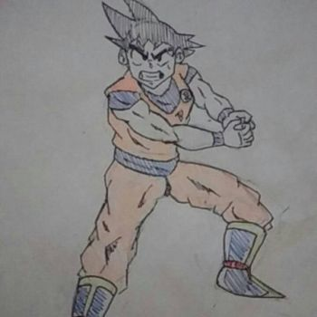 Son Goku Ink by NinjaOnAcid