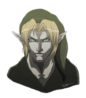 Link portrait re-done by Link-artist
