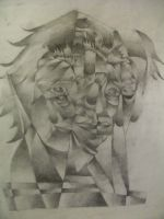 Cubist Face by MarieMoore91