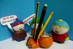 south park pencil holder by who8mypie