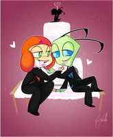 Commission - Wedding Cake by MimiMarieT