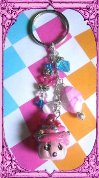 Worried Cupcake keychain by agscsecret
