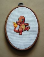 Charmander Cross Stitch. by ElizabethParkin