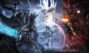 Heroes of The Storm Red vs Blue by AbelVera