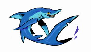 SHARK WEEK_Blue Shark by Grim-Amentia