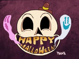 Happy Skull by Makinita by Makinita