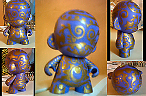Purple and Gold Munny by Jandyman