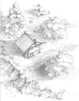 A forest hut by headconc