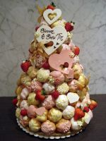 Whimsical Croquembouche by Sliceofcake
