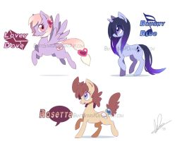 Pony Adopts: Batch 1 (AUCTION OVER) by BentoStars