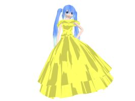 MMD Newcomer - Dress Miku by Xeno-Fan-Jinusa