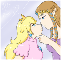 Zelda x Peach draw. by SparxPunx