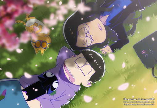 Commission - Clumsy and Ichimatsu by dannex009