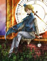APH-Twilight Clock Tower by FrozenSeashell