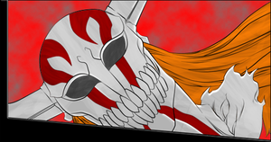 Ichigo full hollow mask Color by Chris-Strife