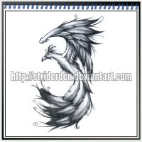 Tattoo Design 035 - Phoenix by StriderDen