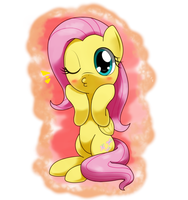 fluttershy doing duck face by hoyeechun