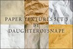 Paper Textures Set 3 by daughterofsnape