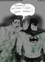 joker want to play with batman by Lunna-World