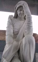 Rossville Cemetery Statue 23 by Falln-Stock