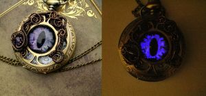 Ghost Bronze Brass Eye Pocket Watch by LadyPirotessa