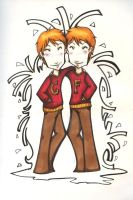 Fred anf George Weasley by Shimpa-chan