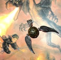 Golden Snitch Pendant - Pendentif Vif d'or by mistressmariko