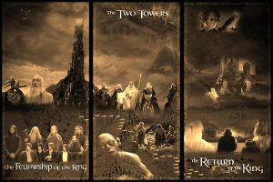 Lord of the Rings Triptych by NerdAdjacent