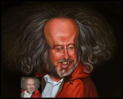 Caricature for an anchorman by creaturedesign