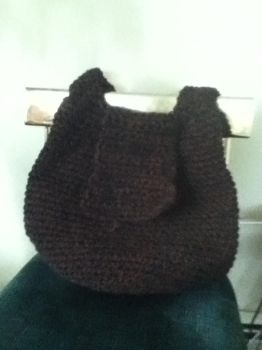 Hobo bag pattern from 'crochet Geek' (prototype 1) by Clix69