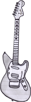 Fender Jagstang - Drawing by cobain1337