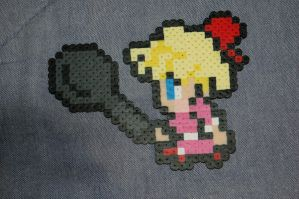 FF6-style Paula Perler by evilpika