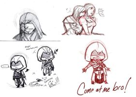 Assassin's Creed sketchdump1 by Alexander-Rowe