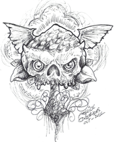 Mushroomskull Speed Sketch by kwickrodrigues