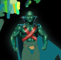 The Martian Manhunter... WIP by taurus1977